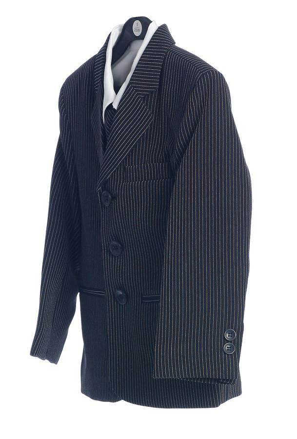 Boys Striped Suits with Pants, Tie, Vest, Dress Shirt-Boys Formal Wear-ABC Fashion
