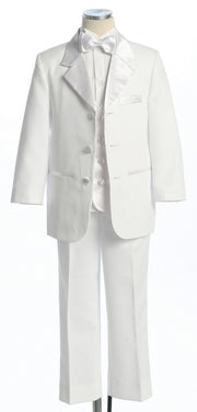 Boys White Formal Tuxedos with Matching Vest-Boys Formal Wear-ABC Fashion