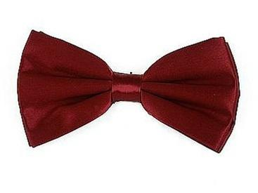 Burgundy Bow Ties with Matching Pocket Squares-Men's Bow Ties-ABC Fashion