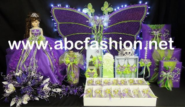 Butterfly Quinceanera Centerpieces - $1,395 Quinceanera Package-Quinceanera Dresses, Packages, and Accessories-ABC Fashion