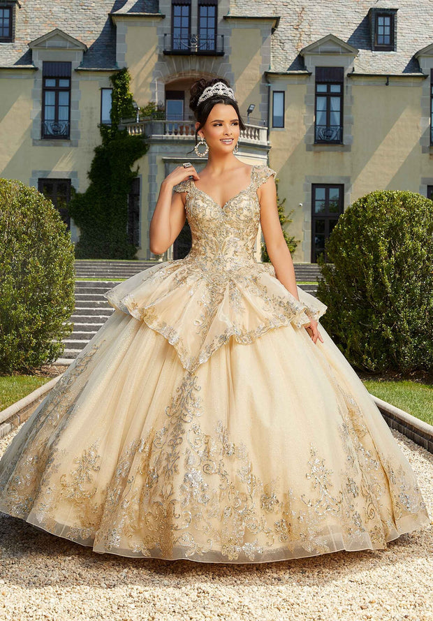 Cap Sleeve Quinceanera Dress by Mori Lee Valencia 60134