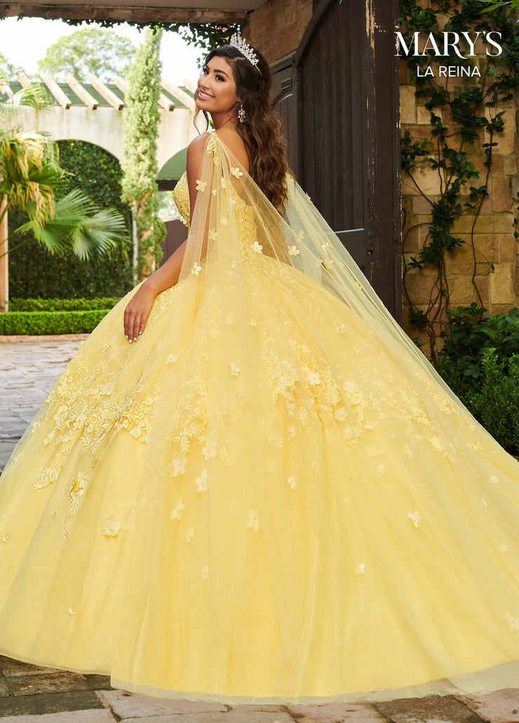 Cape Quinceanera Dress by Mary's Bridal MQ2115