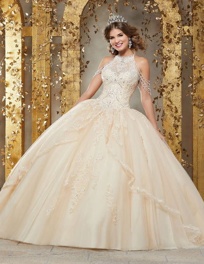 Chandelier Sleeves Quinceanera Dress by Mori Lee Vizcaya 89227-Quinceanera Dresses-ABC Fashion