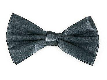 Charcoal Silk Bow Ties-Men's Bow Ties-ABC Fashion
