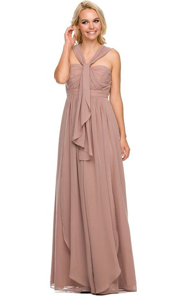 Chiffon Long Convertible Sweetheart Dress by Nox Anabel 7124-Long Formal Dresses-ABC Fashion