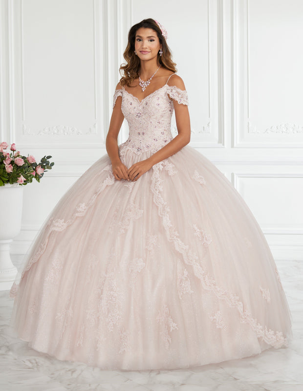 Cold Shoulder Lace Quinceanera Dress by Fiesta Gowns 56395-Quinceanera Dresses-ABC Fashion