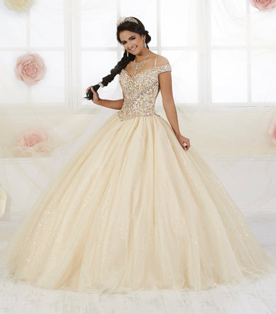 Cold Shoulder Quinceanera Dress by Fiesta Gowns 56360 (Size 14 - 26)-Quinceanera Dresses-ABC Fashion