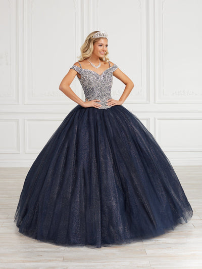 Cold Shoulder Quinceanera Dress by Fiesta Gowns 56419 (Size 10 - 16)
