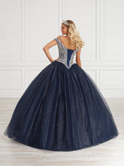 Cold Shoulder Quinceanera Dress by Fiesta Gowns 56419 (Size 26 - 30)