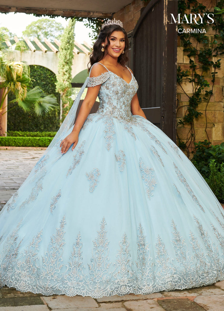 Cold Shoulder Quinceanera Dress by Mary's Bridal MQ1078