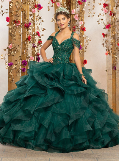 Cold Shoulder Quinceanera Dress by Mori Lee Vizcaya 89226-Quinceanera Dresses-ABC Fashion