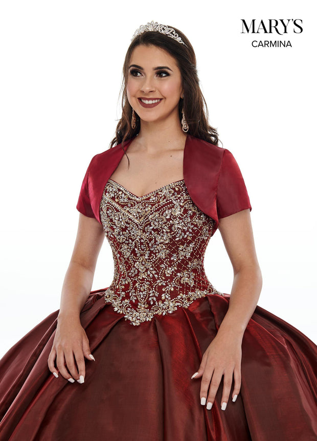 Cold Shoulder Satin Quinceanera Dress by Mary's Bridal MQ1059-Quinceanera Dresses-ABC Fashion