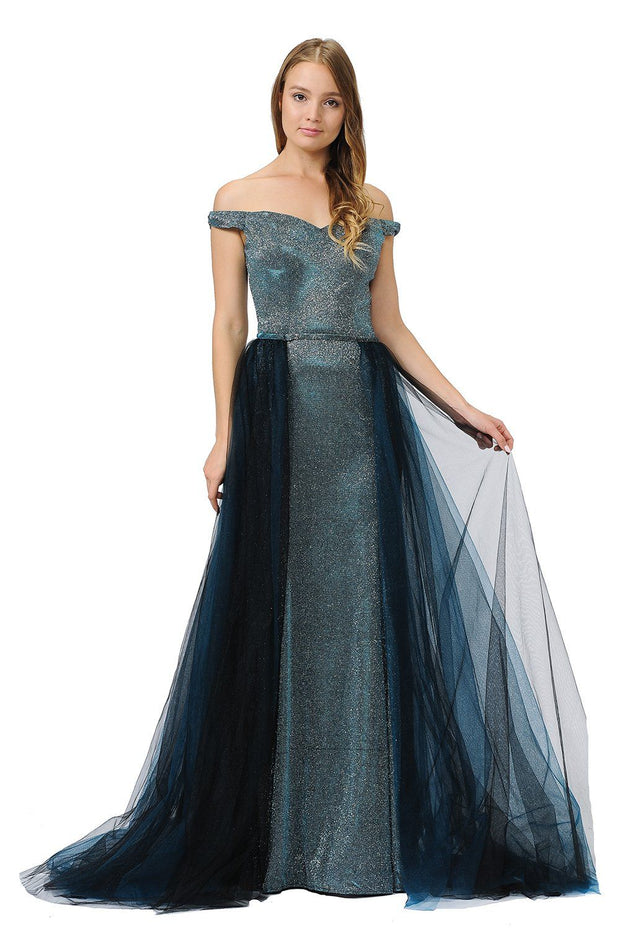 Detachable Tulle Overskirt by Poly USA SK40-Long Formal Dresses-ABC Fashion