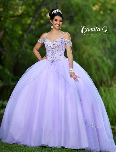 Embellished Cold Shoulder Quinceanera Dress by Camila Q Q18010-Quinceanera Dresses-ABC Fashion