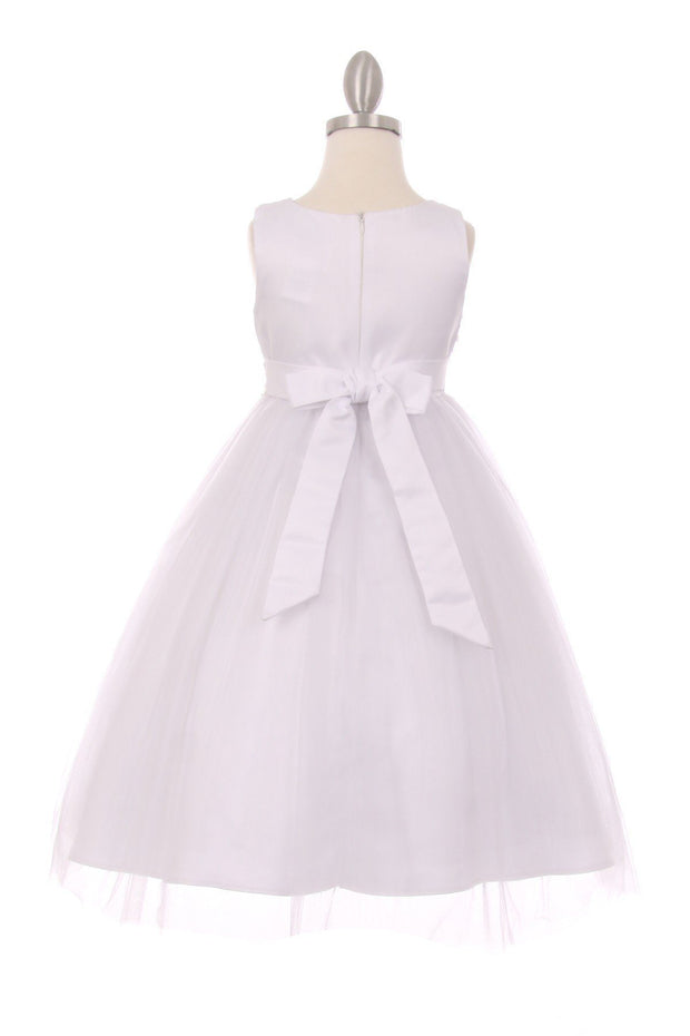 Embellished Girls Sleeveless Tulle Dress by Cinderella Couture 5009-Girls Formal Dresses-ABC Fashion