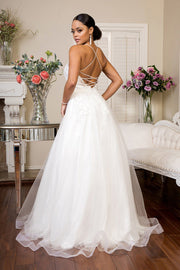 Embellished Lace Up Bridal Gown by Elizabeth K GL1916