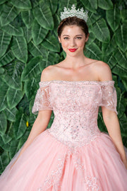 Embellished Off Shoulder Quinceanera Dress by Calla KY75128X-Quinceanera Dresses-ABC Fashion