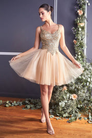 Embellished Short Tulle Dress by Cinderella Divine 9239