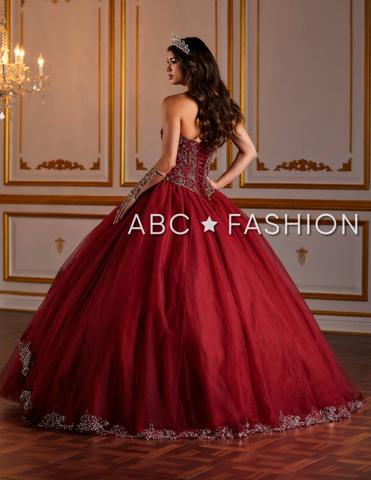 Embellished Strapless Quinceanera Dress by Fiesta Gowns 56381-Quinceanera Dresses-ABC Fashion