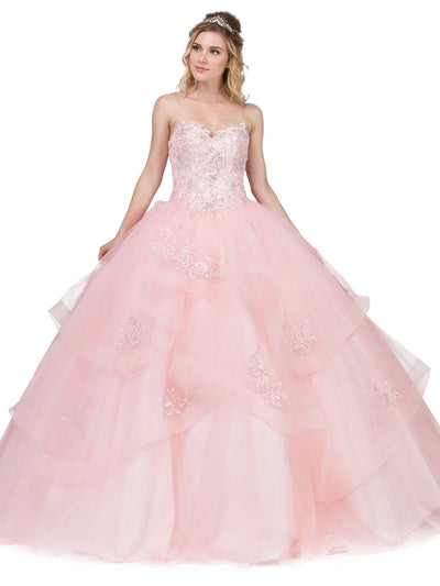 Embellished Strapless Sweetheart Ball Gown by Dancing Queen 1328