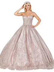 Embellished Strapless Sweetheart Ball Gown by Dancing Queen 1453
