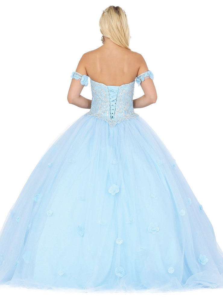 Embellished Sweetheart Strapless Ball Gown by Dancing Queen 1301