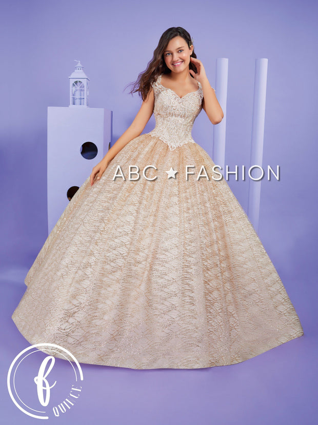 Embroidered Cap Sleeve Quinceanera Dress by Forever Quince FQ818