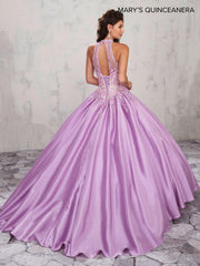 Embroidered Halter Quinceanera Dress by Mary's Bridal M4Q2003-Quinceanera Dresses-ABC Fashion