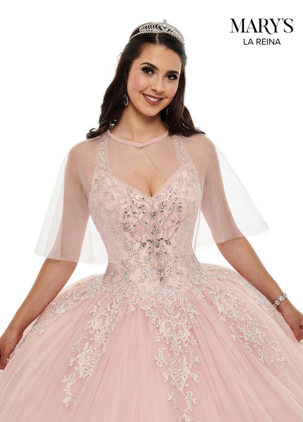 Embroidered Halter Quinceanera Dress by Mary's Bridal MQ2100-Quinceanera Dresses-ABC Fashion