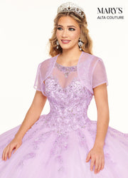Embroidered Illusion Quinceanera Dress by Alta Couture MQ3054