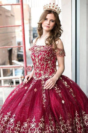 Embroidered Off Shoulder Quinceanera Dress by Calla KY75110