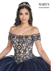 Embroidered Off Shoulder Quinceanera Dress by Mary's Bridal MQ2089-Quinceanera Dresses-ABC Fashion