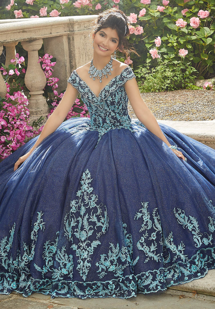 Embroidered Off Shoulder Quinceanera Dress by Mori Lee Vizcaya 89275-Quinceanera Dresses-ABC Fashion