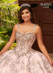 Embroidered Quinceanera Dress by Mary's Bridal MQ2126