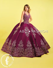 Embroidered Satin Quinceanera Dress by Forever Quince FQ819