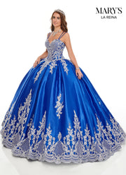 Embroidered Satin Quinceanera Dress by Mary's Bridal MQ2105-Quinceanera Dresses-ABC Fashion