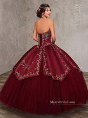 Embroidered Satin Quinceanera Dress by Mary's Bridal Princess 4Q516-Quinceanera Dresses-ABC Fashion