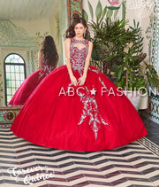Embroidered Sleeveless Quinceanera Dress by Forever Quince FQ795-Quinceanera Dresses-ABC Fashion
