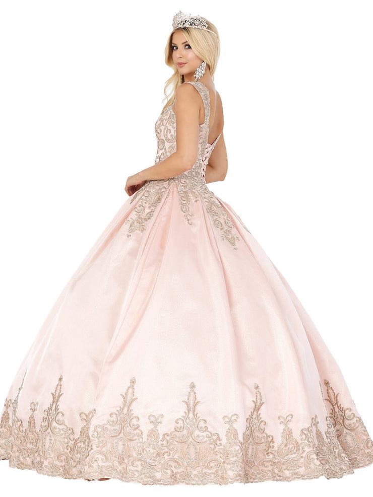 Embroidered Sweetheart Ball Gown by Dancing Queen 1487