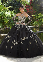 Embroidered Sweetheart Quinceanera Dress by Mori Lee Vizcaya 89248