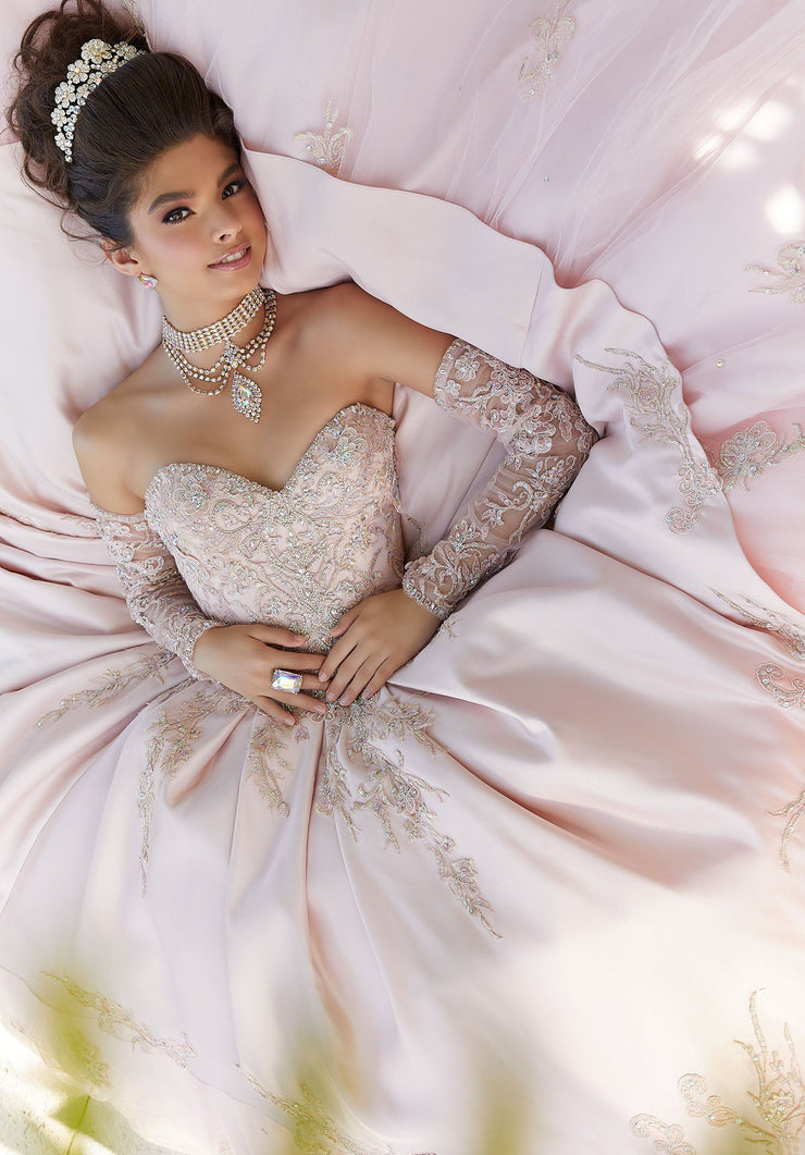 Embroidered Sweetheart Quinceanera Dress by Mori Lee Vizcaya 89248-Quinceanera Dresses-ABC Fashion