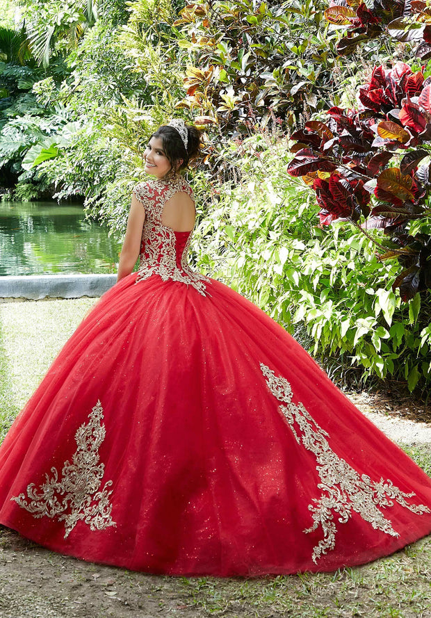 Embroidered Tulle Quinceanera Dress by Mori Lee Vizcaya 89288