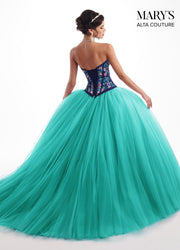 Embroidered Two-Piece Strapless Quinceanera Dress by Alta Couture MQ3021-Quinceanera Dresses-ABC Fashion