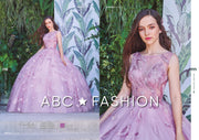 Feather Applique Pink Quinceanera Dress by Forever Quince FQ814-Quinceanera Dresses-ABC Fashion