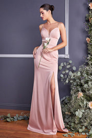 Fitted Long Sweetheart Dress by Cinderella Divine 7470