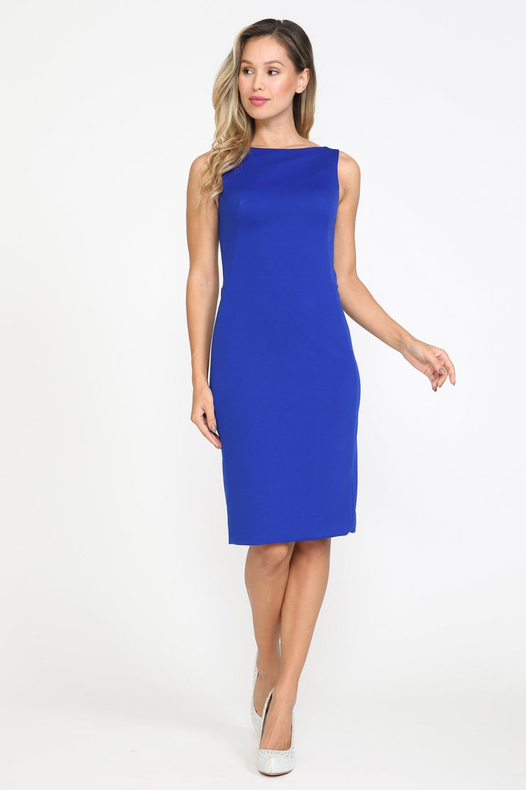 Fitted Short Sleeveless Dress by Poly USA 8522