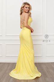 Fitted Sweetheart Gown with Corset Back by Nox Anabel C420
