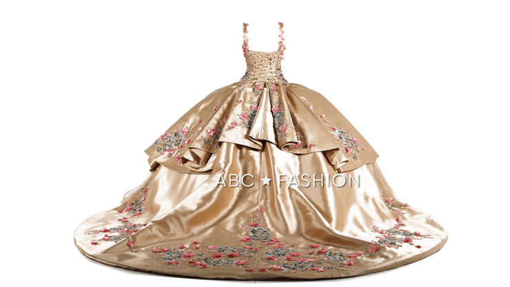 Floral 2 Piece Quinceanera Dress by Ragazza D46-546