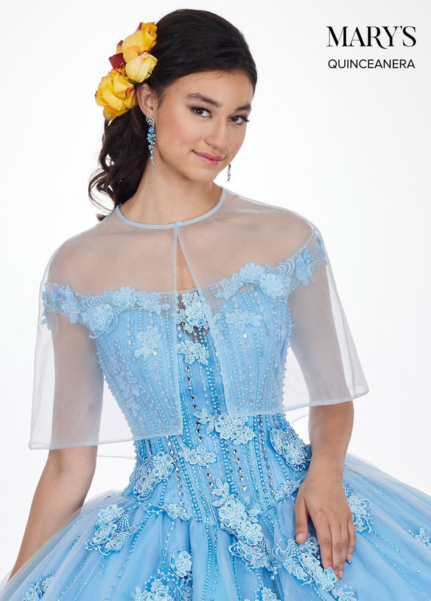 Floral Applique Off the Shoulder Quinceanera Dress by Mary's Bridal MQ2069-Quinceanera Dresses-ABC Fashion
