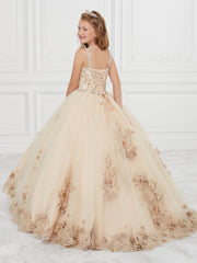 Floral Appliqued Quinceanera Dress by House of Wu 26884